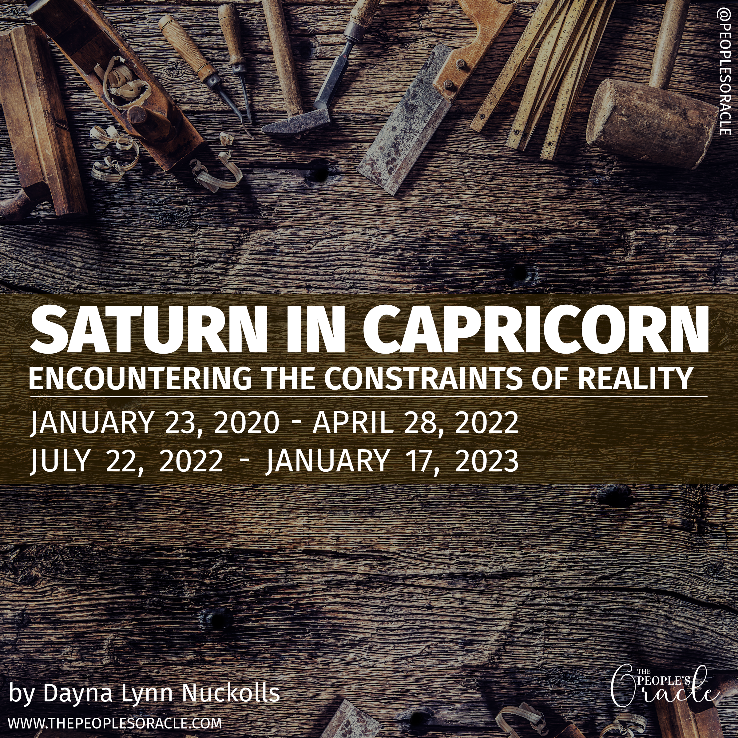 Saturn in Capricorn 20 20   The People's Oracle